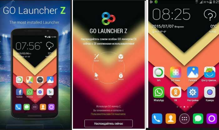 GO Launcher Z Prime VIP 2.39 Apk for Android