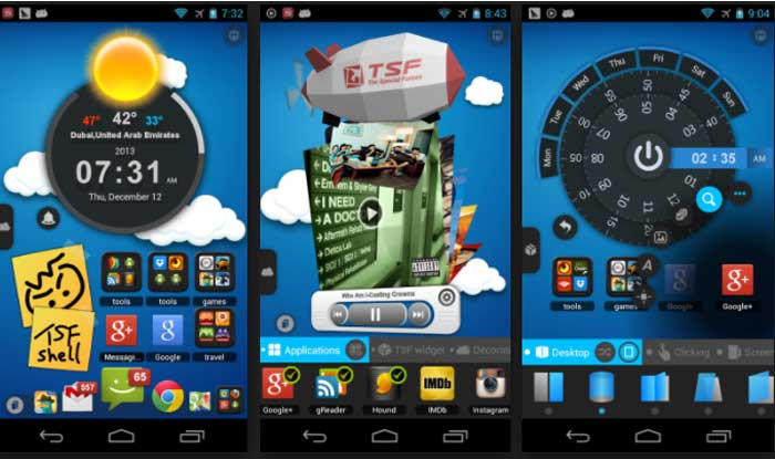 TSF Launcher 3D Shell Apk for Android